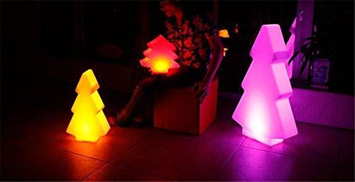 XIAOMEIXI Creativa LED decorativo árbol de navidad de las luces de la forma festiva Ambiente Decoración de carga que cambia de color con control remoto inalámbrico , l26x10xh40cm
