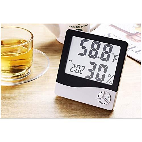 Neu Digital LCD Thermometer Hygrometer Luftfeuchtigkeit Meter Raum innen Temperatur Uhr DE