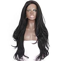 Fiber Curly Wig - Black