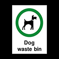 Dog Waste Bin Sticker / Self Adhesive Sign - Fouling / Dog Area / Clean it up / Security Guard Dogs (PPA24)