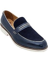 WAYNE WRIGHT Genuine Leather Slip On Shoe Loafers For Men In Navy Colour/lofer Shoes Men/lofer Shoes For Men Stylish...