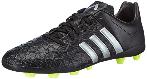 adidas Control Entry FxG Unisex-Kinder Fußballschuhe, Noir (Core Black/Silver Met/Solar Yellow), 37 1/3 EU