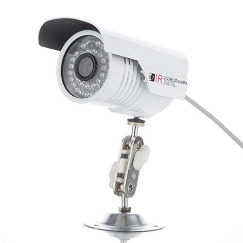 Galleria fotografica leshp 720P Wireless IP Camera HD/IP Cam con LAN e connessione Wi-Fi/Outdoor IP68impermeabile telecamera di rete a infrarossi, visione notturna, Deutsche APP/Istruzioni/Support, Bianco