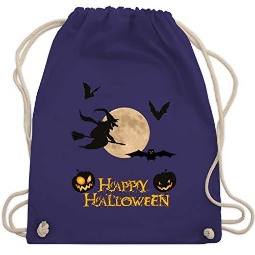 Halloween - Happy Halloween Mond Hexe - Unisize - Lila - WM110 - Turnbeutel & Gym Bag
