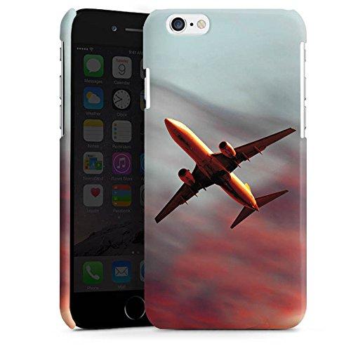 Apple iPhone 5s Housse Étui Protection Coque Avion Mouches Avion Cas Premium brillant