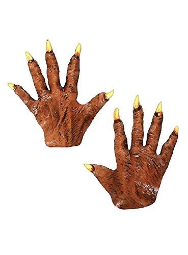 Hände Werwolf Kostüm - Werwolfklauen kurz aus Latex Hände zum Werwolf Kostüm Halloween