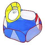Jtoony Bambini Teepee Pallacanestro da Lancio per Bambini Colore Rosso Piscina con Palline oceaniche all'Interno e Tenda da Gioco per Esterni Giallo Blu Tende Giocattolo