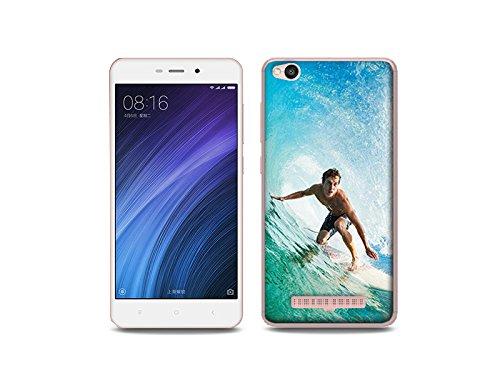 etuo Xiaomi Redmi 4A - Hülle Foto Case - Surfer - Handyhülle Schutzhülle Etui Case Cover Tasche für Handy