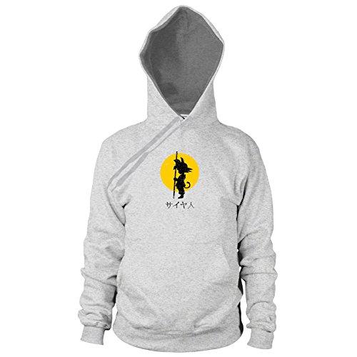 DBZ: SAIYA JIN Japanisch - Herren Hooded Sweater, Größe: XL, Farbe: grau meliert