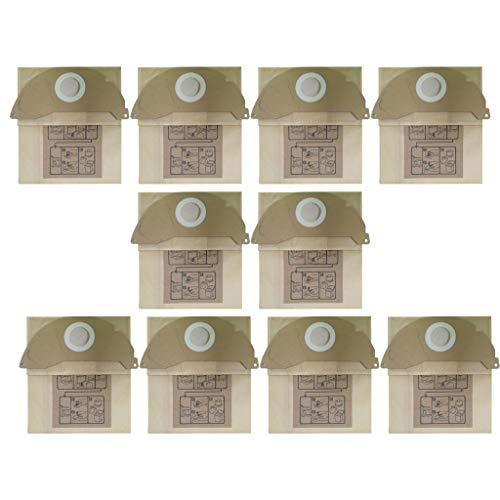 FBGood Staubsauger Teile,(10 Stück Filterpapier Staubbeutel) Original Ersatzkit Reinigung Swerkzeugsätze Ersatzteile Zubehör Für Karcher A2000, A2099, WD2.000, WD2399