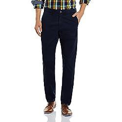 Jack & Jones Men's Casual Trousers (5713238110995_12112637Navy Blue_32W x 31L_Navy Blue)