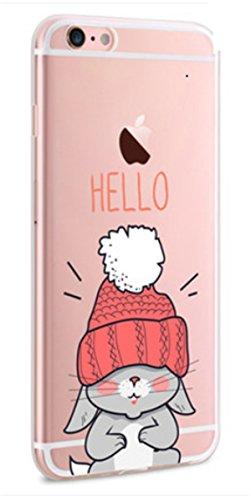 Qissay® TPU Funda Cubierta de Silicona de ultra delgado impresión de estuche Silicona Carcasa Trasera Para Apple iphone 6 plus 6s plus 5,5 pulgadas