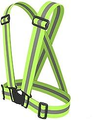 Haute visibilité Gilet de sécurité réfléchissant–Restez en sécurité Jogging, cyclisme, Moto, de travail, d'équitation ou de Course