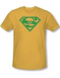 Superman - - Bouclier du Brésil T-shirt des hommes en or