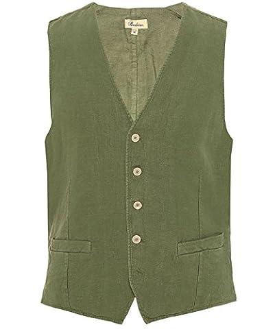 Stenstroms Hommes Linen Waistcoat Vert M