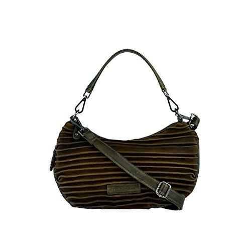FREDsBRUDER Umhängetasche Coco Crossbody Bag Damen Tasche Leder Khaki (Velvet Green Tasche)
