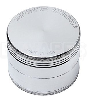 Space Case Grinder Titanium 4 Piece Large Magnetic (argento)