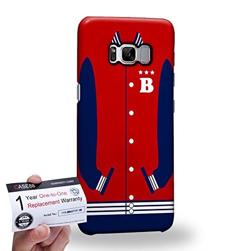 (Case88 [Samsung Galaxy S8] 3D Hülle / Schutzhülle & Garantiekarte - Art Sports Fire Brick Baseball Jersey 1986)