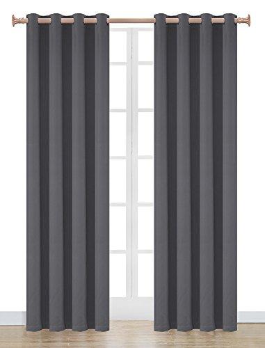 OnlyYou - Tende oscurante, 2 pannelli, 135 x 183 cm - grigio scuro