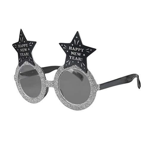 BESTOYARD Jahr Lustige Brille mit Star Party Decor Sonnenbrille für Kinder Silber
