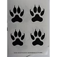 Large Tiger Paw Print stickers 8 reversible fun and decorative stickers