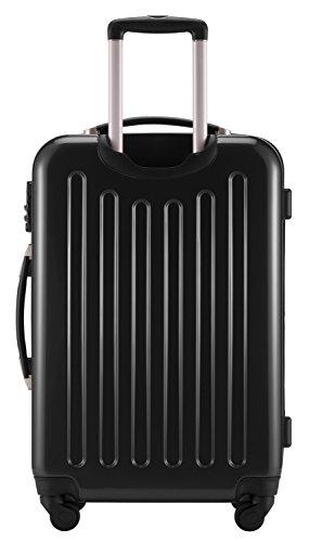 HAUPTSTADTKOFFER® 2er Hartschalen Kofferset · 2x Koffer 130 Liter (75 x 52 x 32 cm) · Hochglanz · Zahlenschloss · WEISS Schwarz
