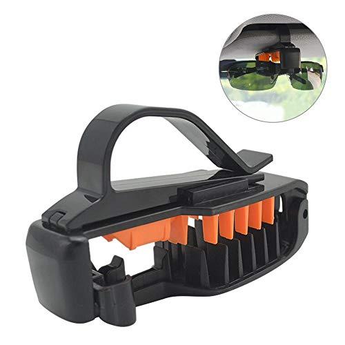 Jannyshop Auto Sonnenblende 3R Brillengestell Weichkleber Schutz Multi-Positioniert Sonnenbrillen Universal Clip Halter für Auto