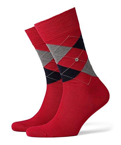 Burlington Herren Manchester Socken,, per pack Grau (Black-Pacific 3632), 40/46 (Herstellergröße: 40-46) (Kariertes Herren-socken)