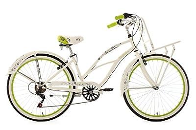 "Cargo Beach Cruiser 26"" Bellefleur White-Green 6 Gear KS Cycling"