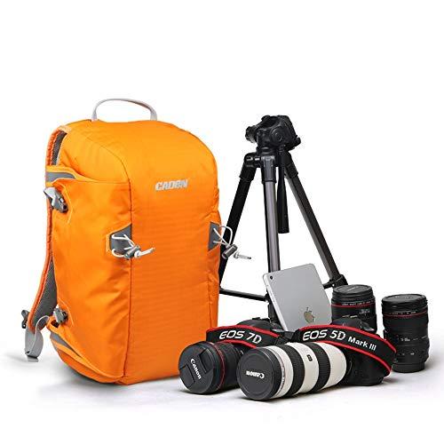 LCJ Kamerarucksack, Kamerataschen für DSLR und Objektive Kameratasche Diebstahlsicherer, wasserdichter Fotografie-Rucksack mit großer Kapazität