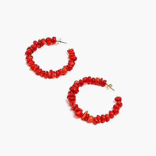 QWE Ohrring, Perlenohrringe, Muschelbaumler, kreatives Eardrop, Frauenbolzenohrring einfach,Red (Lila Lagerung Würfel)