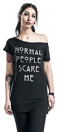 American Horror Story Normal People T-shirt Femme noir Noir