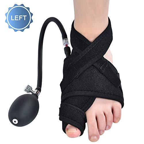 Doact alluce valgo correttore fascia, tutore alluce valgo distanziatore splint separatore raddrizzatore dita calza supporto, notturno ortesi correggi protezione, sollievo dolore per piedi (sinistro)