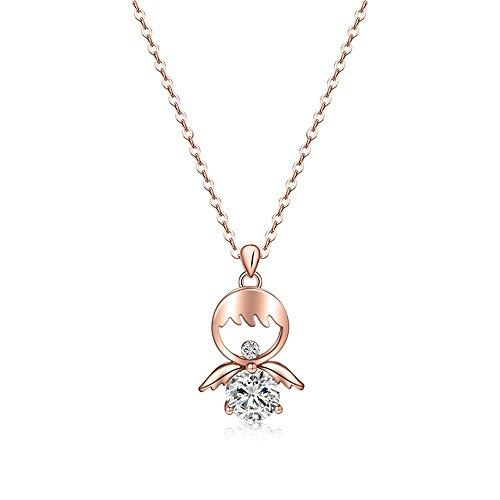 Xin Pang Gioielli In Acciaio Inossidabile Collana Pendente Collana Donna Collana Con Pendente In Cristallo Collana In Oro Rosa