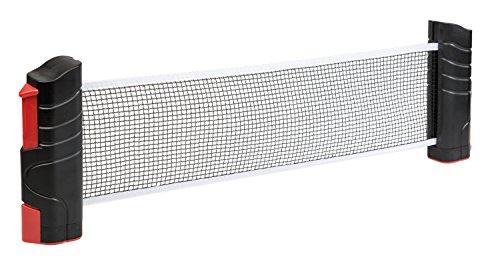 Idena 40461 - Tischtennisnetz, ausziehbar bis 176 cm, bis 5.2 cm Tischplattenstärke, schwarz