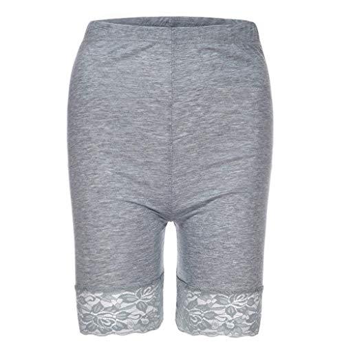 NARADLA Frauen Sicherheitsspitze Shorts Hohe Taille Nahtlose Slips Weiche Grundlegende Unterwäsche Patchwork Damen Unterhose