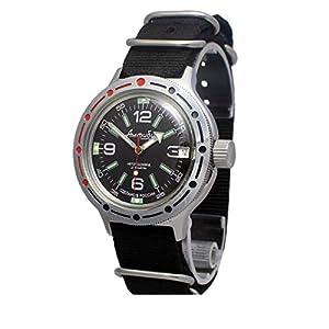 Vostok Amphibian 420640 Russische Militär Taucher Armbanduhr Automatik schwarz