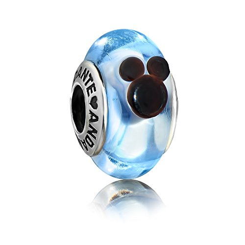 Andante-Stones Sterling Silber 925 Silber Murano Glas Bead
