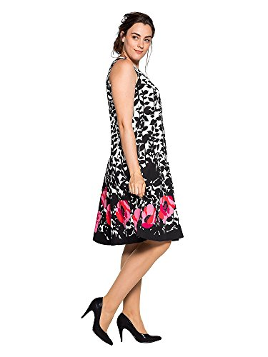 sheego Style Femmes Robe d'affaire Grandes tailles Noir