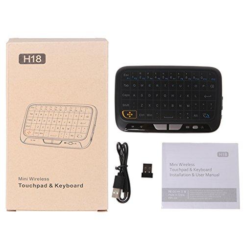Dchaochao H20 LED Kabellose Tastatur Maus für Android TV Box PC Windows 2,4 GHz