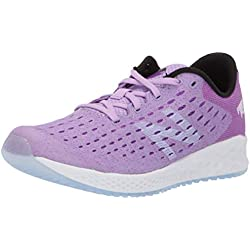 New Balance Fresh Foam Zante Pursuit, Zapatillas Deportivas para Interior Unisex Niños, Morado (Dark Violet GLO/Black Vivid), 37.5 EU