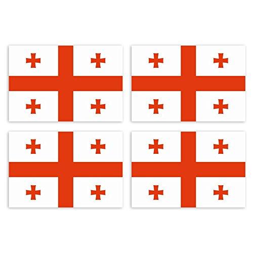,5 x 3 cm Georgien - Land Staat Autoaufkleber Flagge Länder Wappen Fahne Sticker Kennzeichen ()