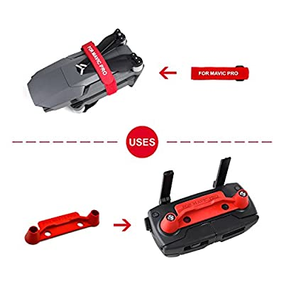 goooods Transport Clip and Propeller Holder Motor Fix Strap - Upgraded Protective Rocker with Screen Guard Controller Transmitter Stick Thumb - Protectors Kit for DJI Mavic Pro