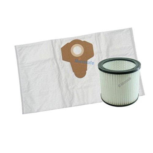 10 Microflies Staubsaugerbeutel + 1 Filter für Rowenta RU5053EH Mehrzwecksauger, alternativ für ZR 80.01 / ZR80 von Microsafe®