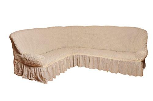 My palace copridivano per divano angolare, 2+ 3posti, crema, variante a