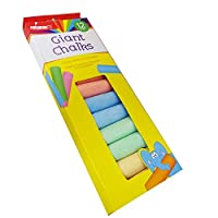 DXD Giant Chalk For Kids Pavement Giant Assorted Colours 12X Super Bright Large