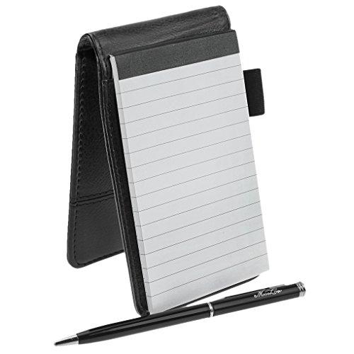 Notizbuch - A7 Kreatives Notizmäppchen Tagebücher mit Druckkugelschreiber und Taschenrechner PU...