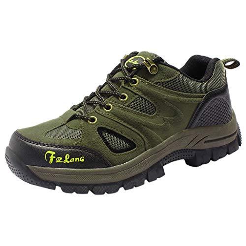 HDUFGJ Herren Trekking-& Wanderhalbschuhe Plus Samt Warm halten rutschfeste Verschleißfest Outdoor-Schuhe Schneeschuhe Freizeitschuhe Wasserdicht Laufschuhe Bequem Leichtgewicht38 EU(Armee grün)