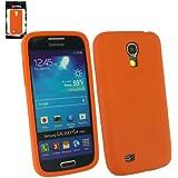 Emartbuy ® Samsung Galaxy S4 Mini I9190 Silicon Skin Cover / Case Orange