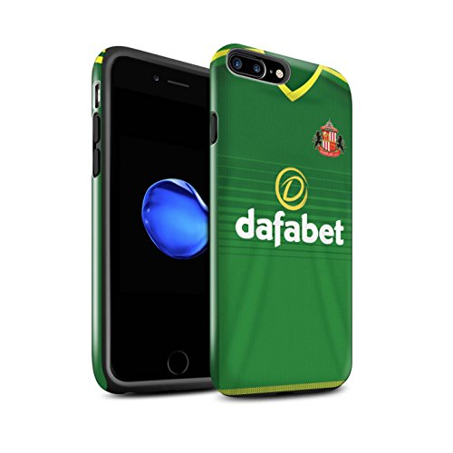 Offiziell Sunderland AFC Hülle / Glanz Harten Stoßfest Case für Apple iPhone 7 Plus / Fußballer Muster / SAFC Trikot Away 15/16 Kollektion Fußballer